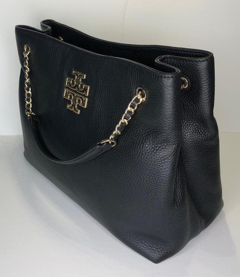 Tory Burch Purse Chain Leather Tote in Black Image 5
