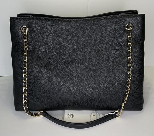 Tory Burch Purse Chain Leather Tote in Black Image 6