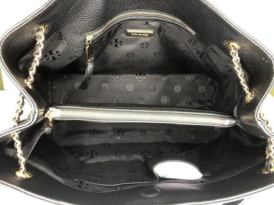 Tory Burch Purse Chain Leather Tote in Black Image 9