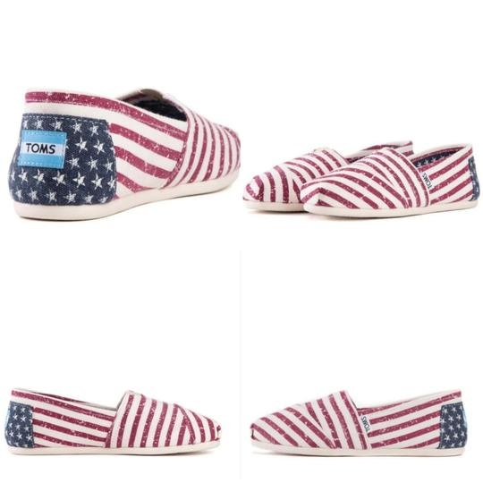 TOMS Flag print red white blue Flats Image 10
