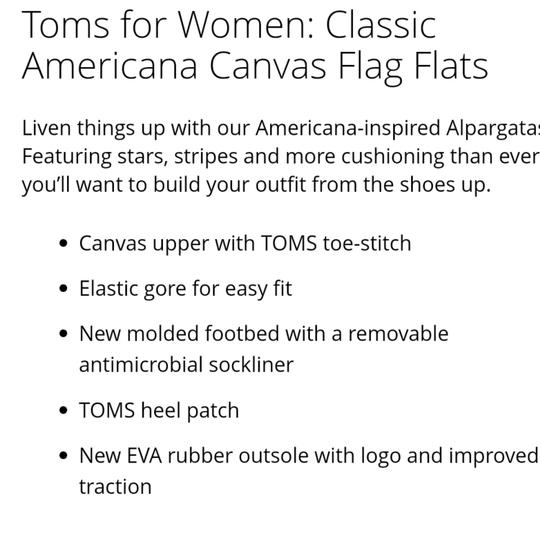 TOMS Flag print red white blue Flats Image 11