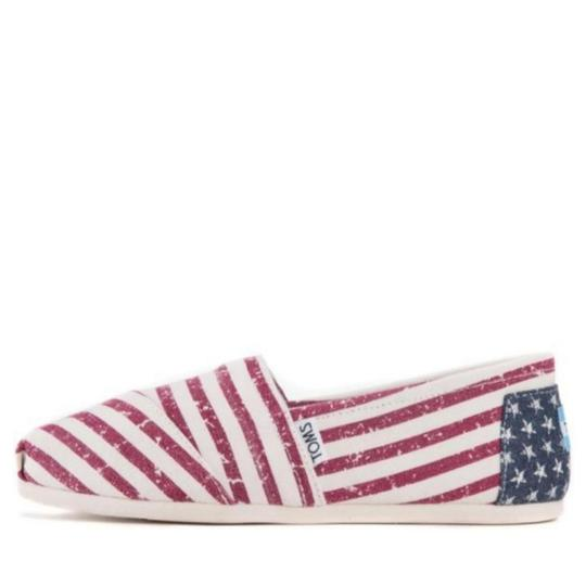 TOMS Flag print red white blue Flats Image 2