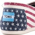 TOMS Flag print red white blue Flats Image 3