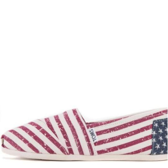 TOMS Flag print red white blue Flats Image 5