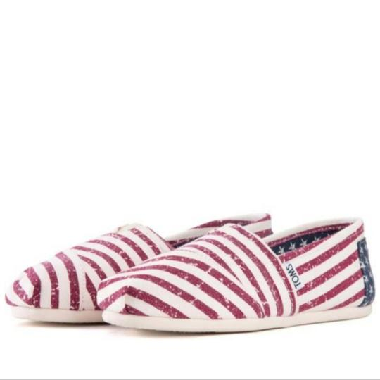 TOMS Flag print red white blue Flats Image 6