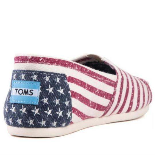 TOMS Flag print red white blue Flats Image 8