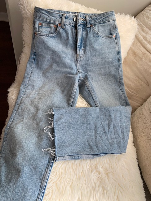 Topshop Straight Leg Jeans-Light Wash Image 2