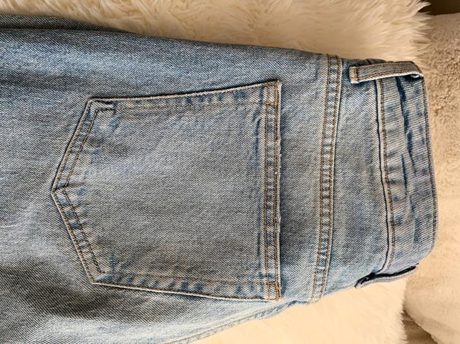 Topshop Straight Leg Jeans-Light Wash Image 3