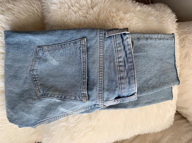 Topshop Straight Leg Jeans-Light Wash Image 6