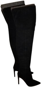 SAM. Thigh High Suede Stiletto Black Boots