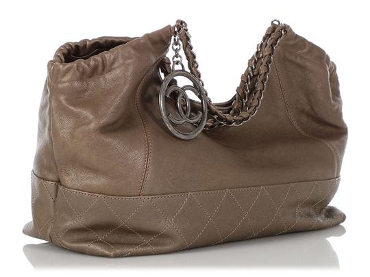 Chanel Ch.q0828.06 Quilted Silver Hardware Shw Baby Satchel in Gray Image 4
