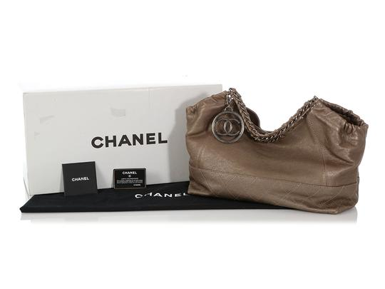 Chanel Ch.q0828.06 Quilted Silver Hardware Shw Baby Satchel in Gray Image 7