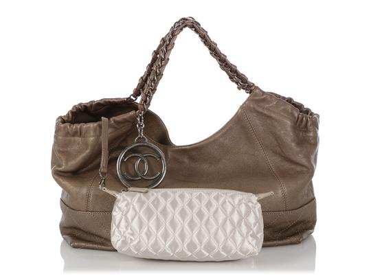 Chanel Ch.q0828.06 Quilted Silver Hardware Shw Baby Satchel in Gray Image 8