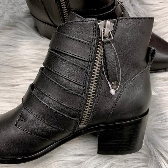 Steve Madden Leather Buckle Chunky Ankle New Black Boots Image 4