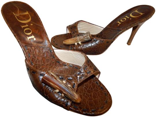 Preload https://img-static.tradesy.com/item/26150100/dior-brown-snake-embossed-leather-mombassa-horn-heel-slides-italy-sandals-size-eu-395-approx-us-95-r-0-1-540-540.jpg