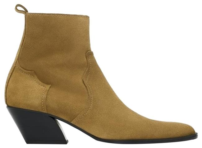 Item - Taupe Suede Leather Ankle Boots/Booties Size US 6.5 Regular (M, B)