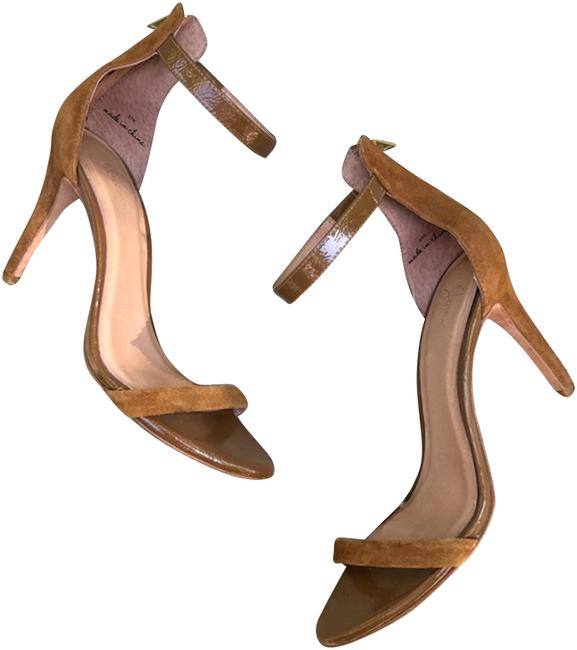 Item - Brown Abbot Ankle Strap Sandals Size EU 37.5 (Approx. US 7.5) Regular (M, B)