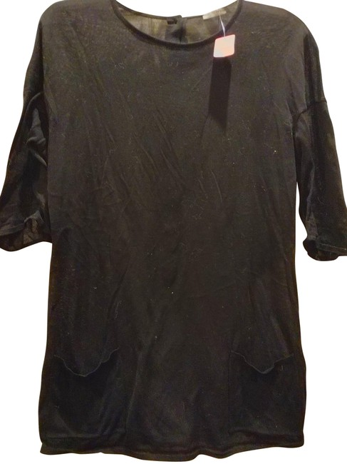 Item - Black Made In Italy with Buttons Tunic Size 10 (M)