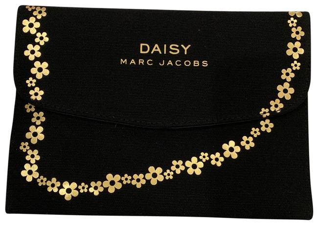 Item - Black Gold Daisy Makeup Cosmetic Bag