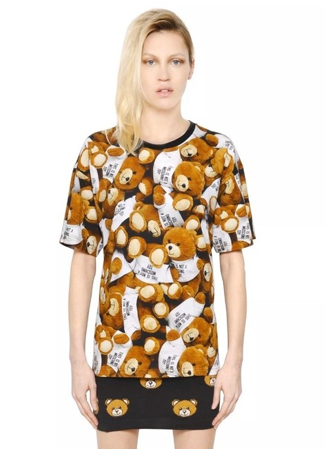 Item - White/Brown Aw15 Couture X Jeremy Scott Teddy Bears Tee Shirt Size 8 (M)