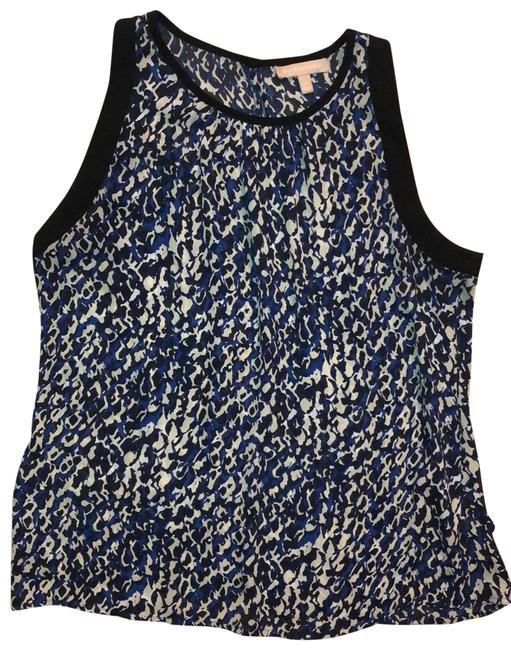 Item - Blue Black and Beige Sleeveless Tunic Size 16 (XL, Plus 0x)