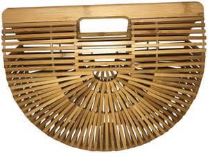 Cult Gaia Bamboo Wood Clutch
