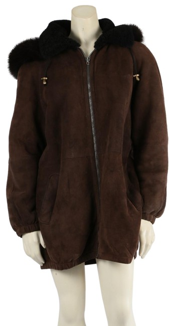 Item - Brown Suede Lined Hooded Winter Coat Size 8 (M)