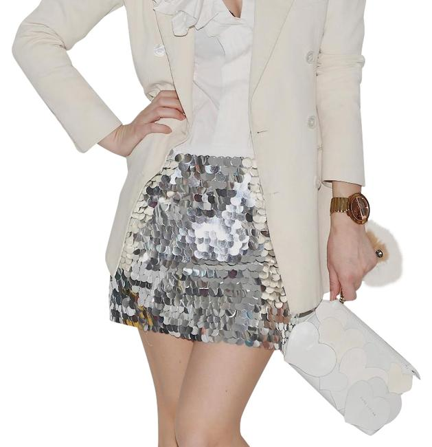 Item - Silver Sequin Skirt Size 0 (XS, 25)