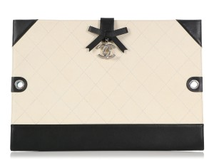 Chanel BEIGE PORTFOLIO CAVIAR AND BLACK LEATHER DRAWING CASE