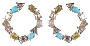 Alexis Bittar Multi-Stone Coiled Post Earring