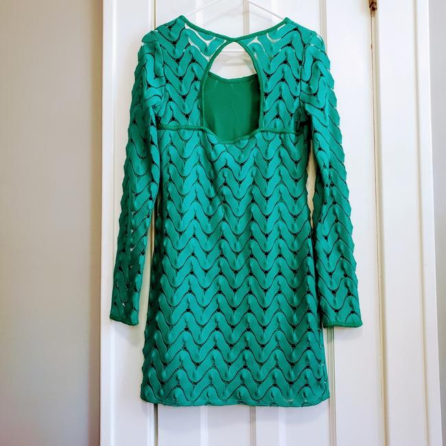 Item - Green Wild Thing Crochet Long Sleeve Short Casual Dress Size 4 (S)