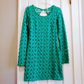 Free People Green Wild Thing Crochet Long Sleeve Short Casual Dress Size 4 (S) Free People Green Wild Thing Crochet Long Sleeve Short Casual Dress Size 4 (S) Image 3