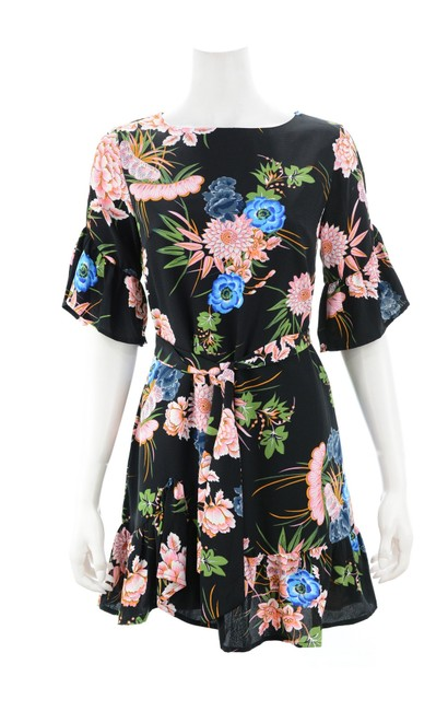 Item - Black Floral New with Tags Cocktail Dress Size 10 (M)