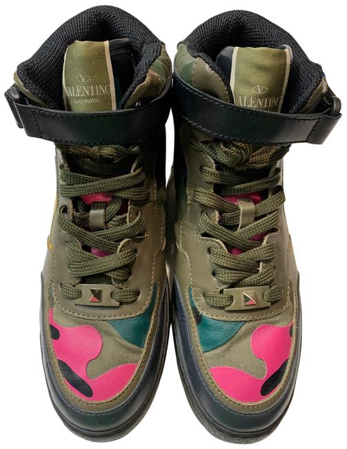Item - Army Green and Multicolored High Top Sneakers Size EU 40 (Approx. US 10) Regular (M, B)