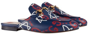 Gucci Navy with print Mules