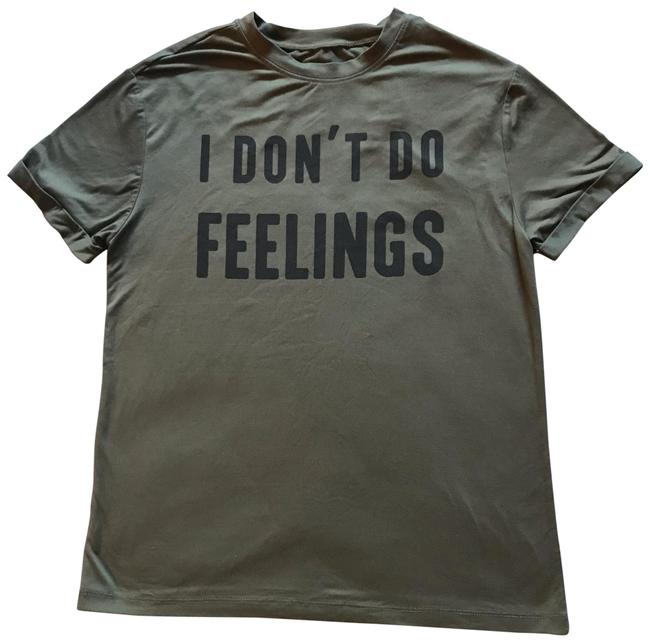 Item - Army Green Graphic Tee Shirt Size 6 (S)