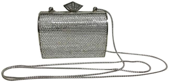 Judith Leiber Minaudiere Silver Crystals Clutch Judith Leiber Minaudiere Silver Crystals Clutch Image 1
