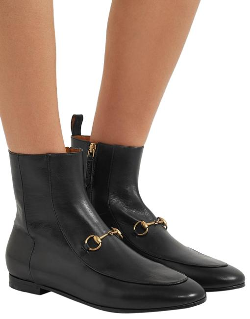 Item - Black Jordaan Horsebit-detailed Leather Ankle Boots/Booties Size EU 36.5 (Approx. US 6.5) Regular (M, B)