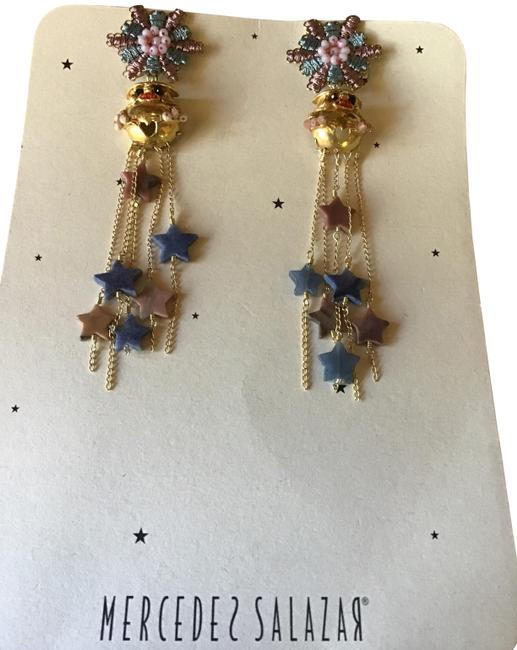 Item - Multicolor Columbian Made Beaded/Gold Dangle Limited Earrings
