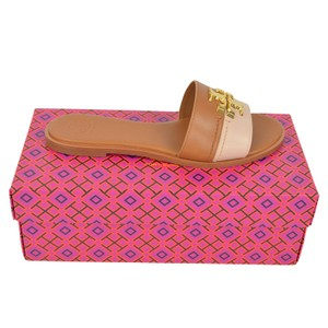 Tory Burch 6 Slide Everly Tan/Pink Sandals