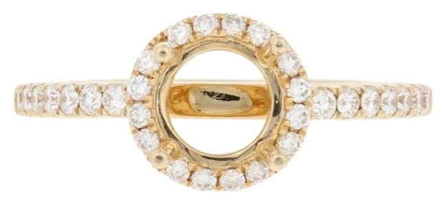 Wilson Brothers Jewelry Yellow New Semi-mount Halo Engagement 14k Gold Fits 6.5mm Center E6137 Ring Wilson Brothers Jewelry Yellow New Semi-mount Halo Engagement 14k Gold Fits 6.5mm Center E6137 Ring Image 1