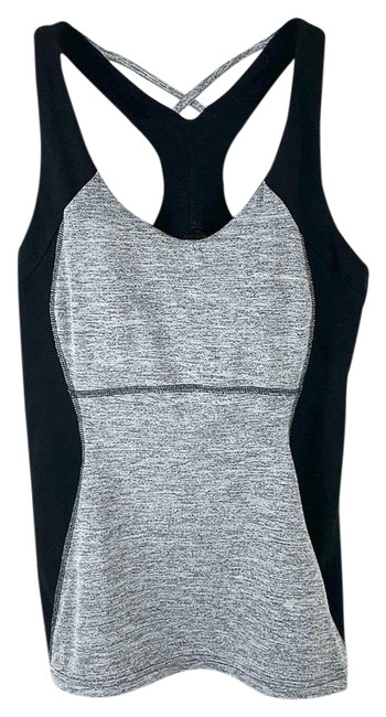Item - Gray Black Heathered Strappy Stretchy Bra Activewear Top Size 6 (S)