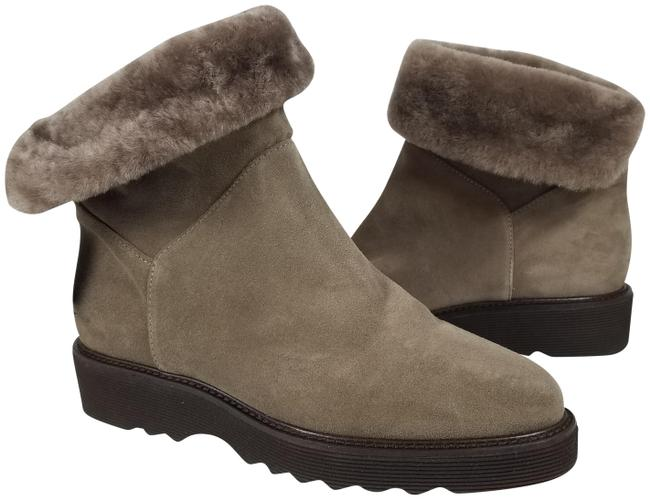 Item - Taupe Kaitlyn Suede Fur Lined Weatherproof Boots/Booties Size US 8 Regular (M, B)
