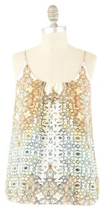 Tangerine NYC Kaleidoscope Printed Camisole Top Orange