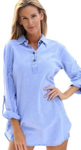 Lirome Embroidered Casual Summer Chic Tie Dye Tunic