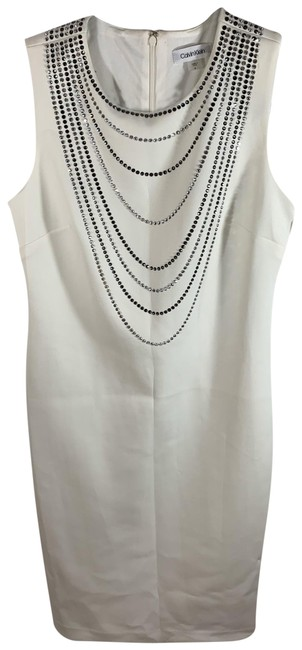 Item - White Cd8m16fl Mid-length Night Out Dress Size 8 (M)