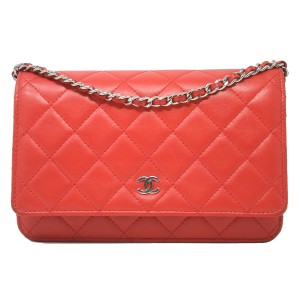 Chanel Woc Leather Cross Body Bag
