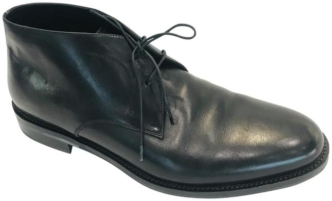 Item - Black Felino Men Leather Ankle Boots/Booties Size US 9.5 Extra Wide (Ww, Ee)