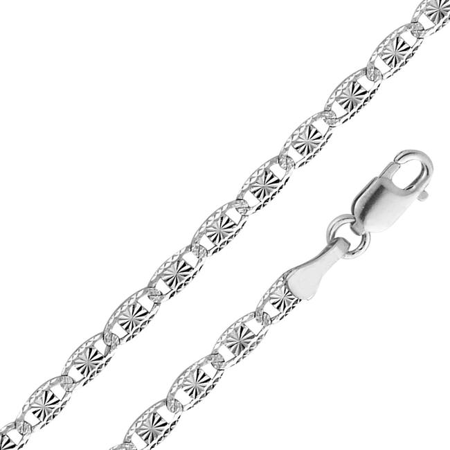 "Top Gold & Diamond Jewelry White 14k 2.6mm Valentino Star/Edge Cut 7"" Bracelet Top Gold & Diamond Jewelry White 14k 2.6mm Valentino Star/Edge Cut 7"" Bracelet Image 1"