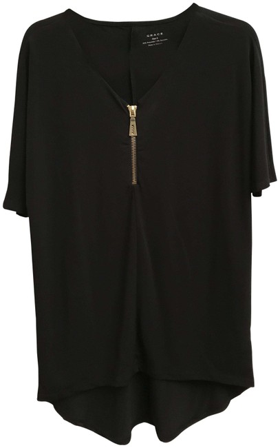 Item - Black Front Zipper Tunic Size 4 (S)